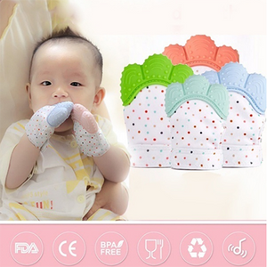 Food Grade Silicone Molar Gloves Baby Teething Glove Silicone Voice Gloves Baby Gloves Teether Chew Toy Baby Products