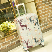 Luggage Covers Fawn Pattern Thick Wear-Resistant Elastic Luggage Covers