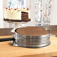 Adjustable Slice Layered Stainless Steel Round Ring Baking Circular Mold Bakeware Baking Tool