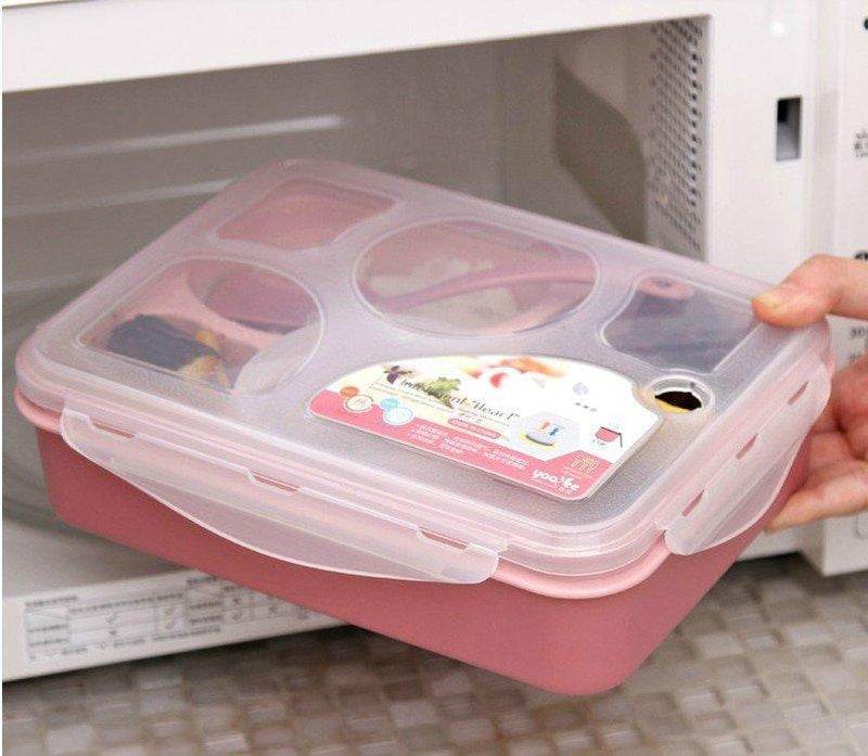 5-zellen 1000ml Box Durable Kind Lunchbox Insulated Food Container Plastic Lunch Box