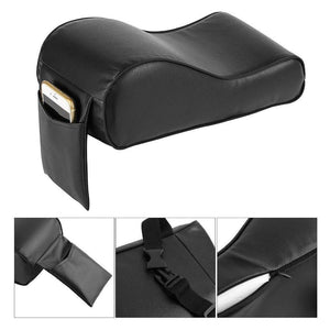 PU Leather Car Armrest Pad Memory Foam Universal Auto Armrests Covers with Phone Pocket