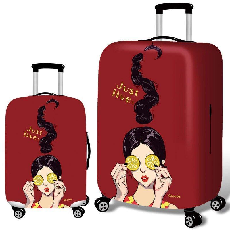 Cool Girls Elastic Luggage Cover Durable Suitcase Protector