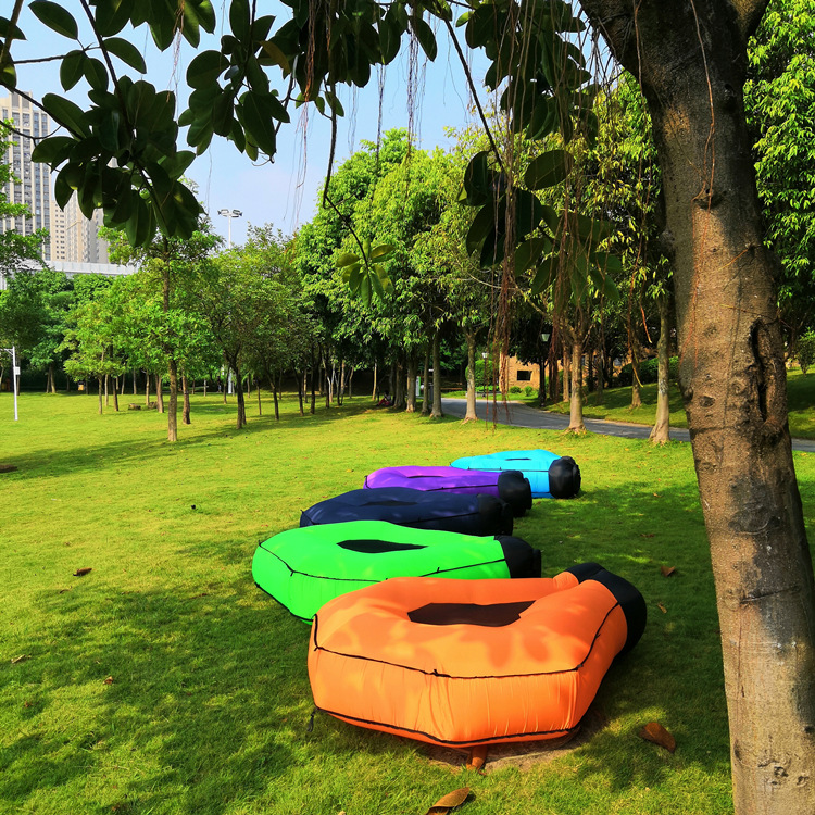2020 new design new inflatable sofa bed outdoor lazy inflatable sofa beach sleeping bag bed easy to carry