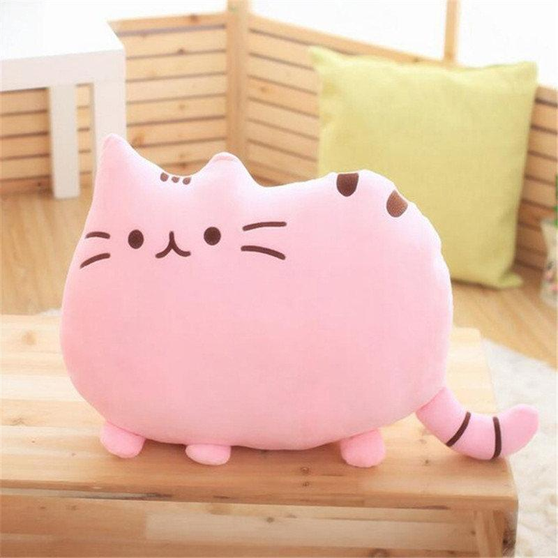 Creative Cartoon Cat Pillow Washable Decorative Waist Pillow Cute Cat Seat Cushion Plush Toy