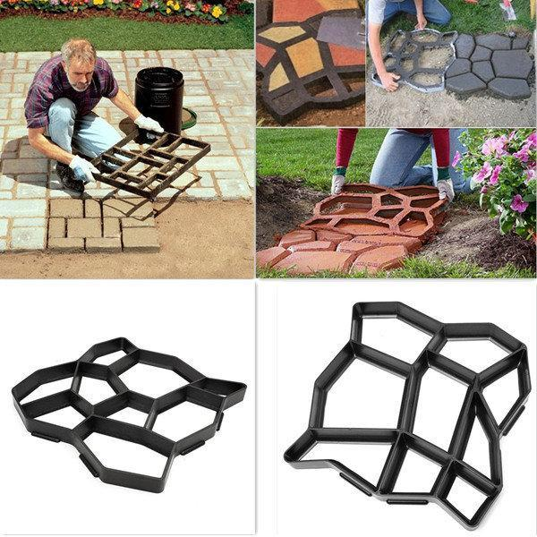 Garden Tools DIY Plastic Path Maker Mold Manually Paving Cement Brick Stone Road Auxiliary Tools
