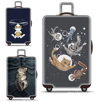 Luggage Covers  Cat Pattern Elastic Thickening Stretch Trolley Case Dust Cover Luggage Covers