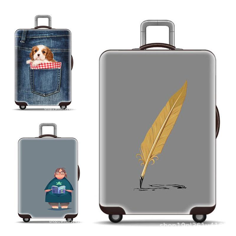 Luggage Covers Elastic Thick Wear-Resistant Dust Covers Luggage Covers
