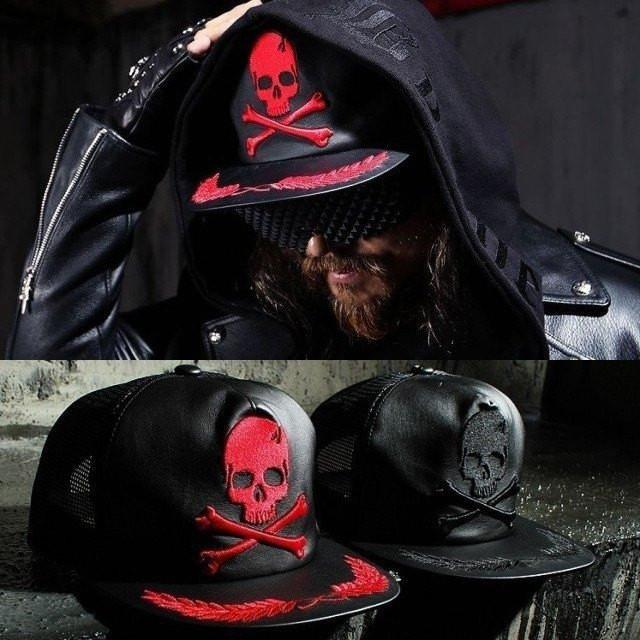 Leather Badass Skull Cap - Skullflow