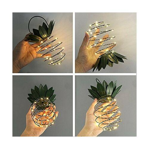 Solar Powered  Pineapple Light Hanging Fairy String Waterproof Outdoor Garden Path Decor