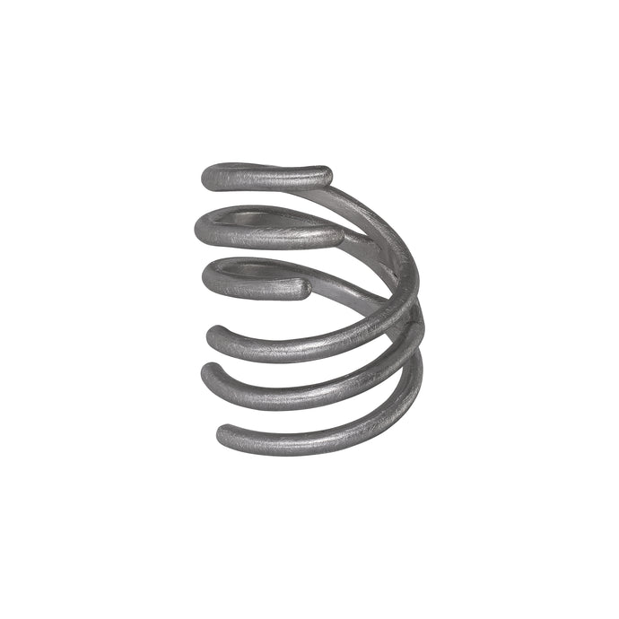 Spin Ring - Oxidized Silver