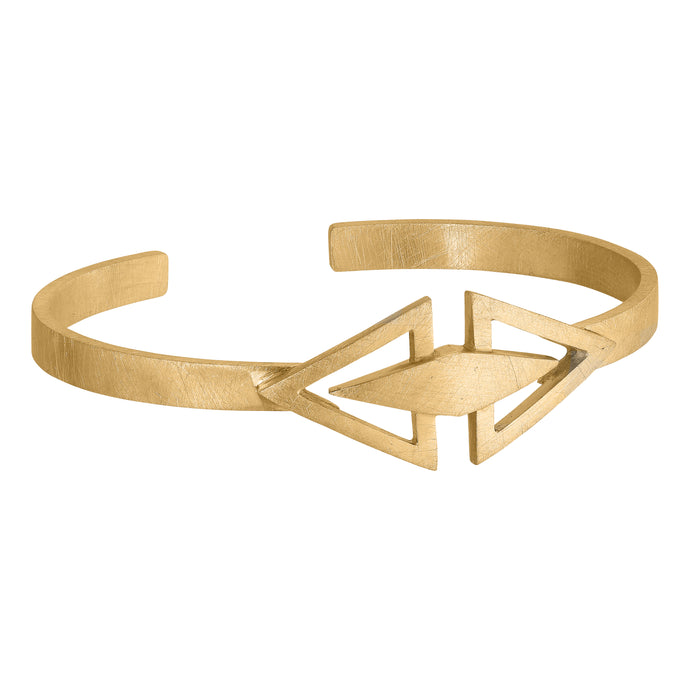 Icicle Cuff - Gold Plated Silver