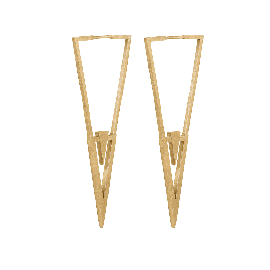 Icicle Earring - Gold Plated Silver