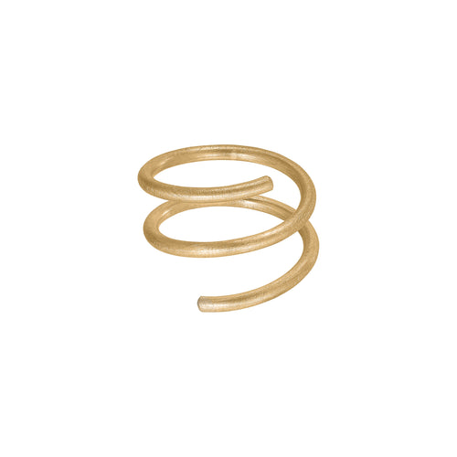 Twirl Ring - Gold Plated Silver