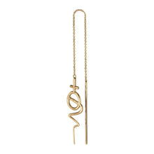 Load image into Gallery viewer, Venus Chain Earring - Gold Plated Silver