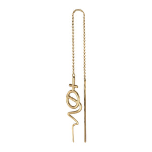 Venus Chain Earring - Gold Plated Silver