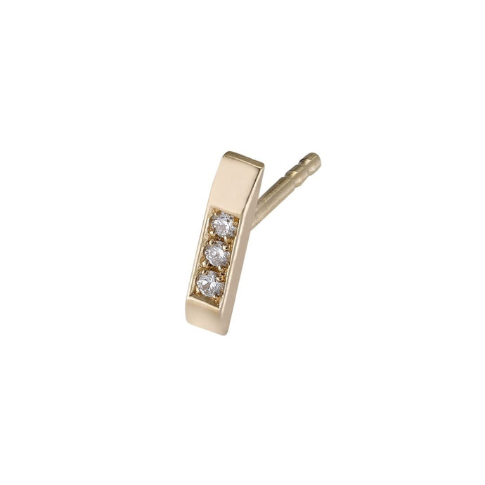 Stud Earring – White Diamonds