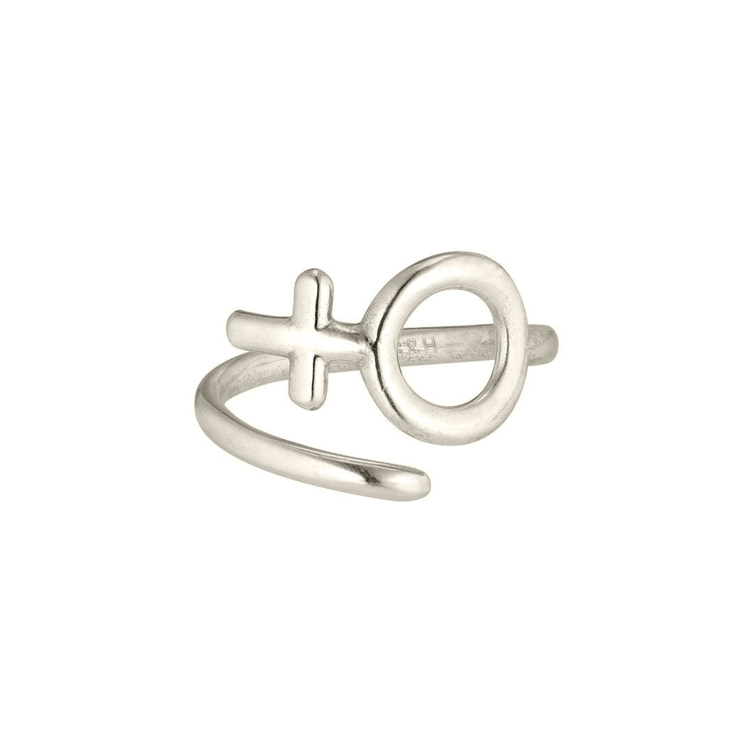 Twirl Ring Woman - White Gold