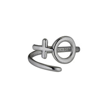 Load image into Gallery viewer, Twirl Ring Woman - Oxidized Silver