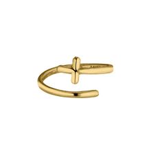Load image into Gallery viewer, Twirl Ring Cross - 14K Gold