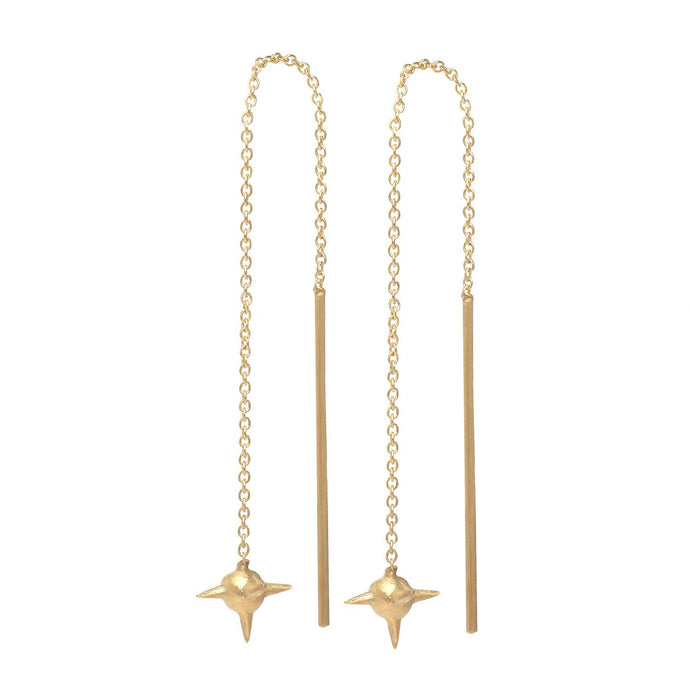 Ace Earring - Gold Plated Silver
