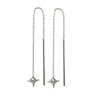 Ace Earring - Oxidized Silver