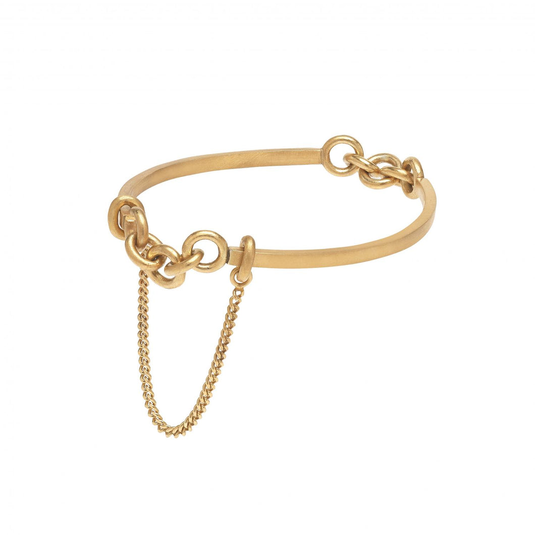 Cuff Chain #2 - Gold Plated Silver