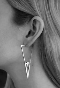 Icicle Earring - Oxidized Silver