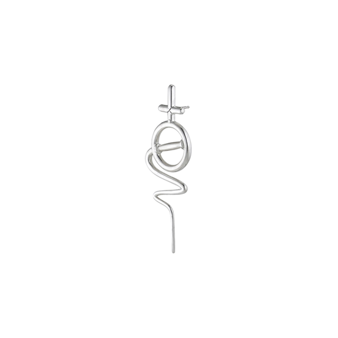 Venus Stick Earring Small - Sterling Silver