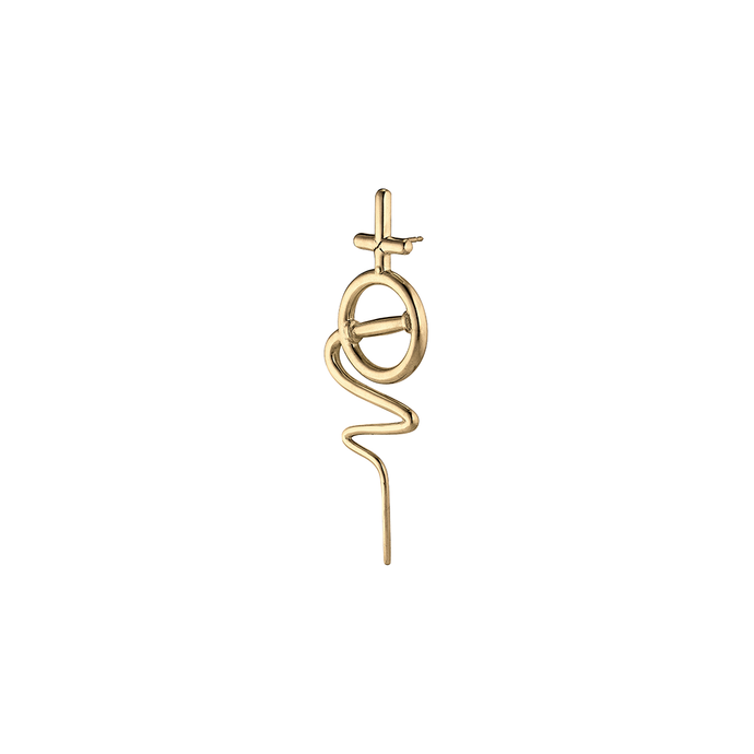 Venus Stick Earring Small - Gold Plated Silver