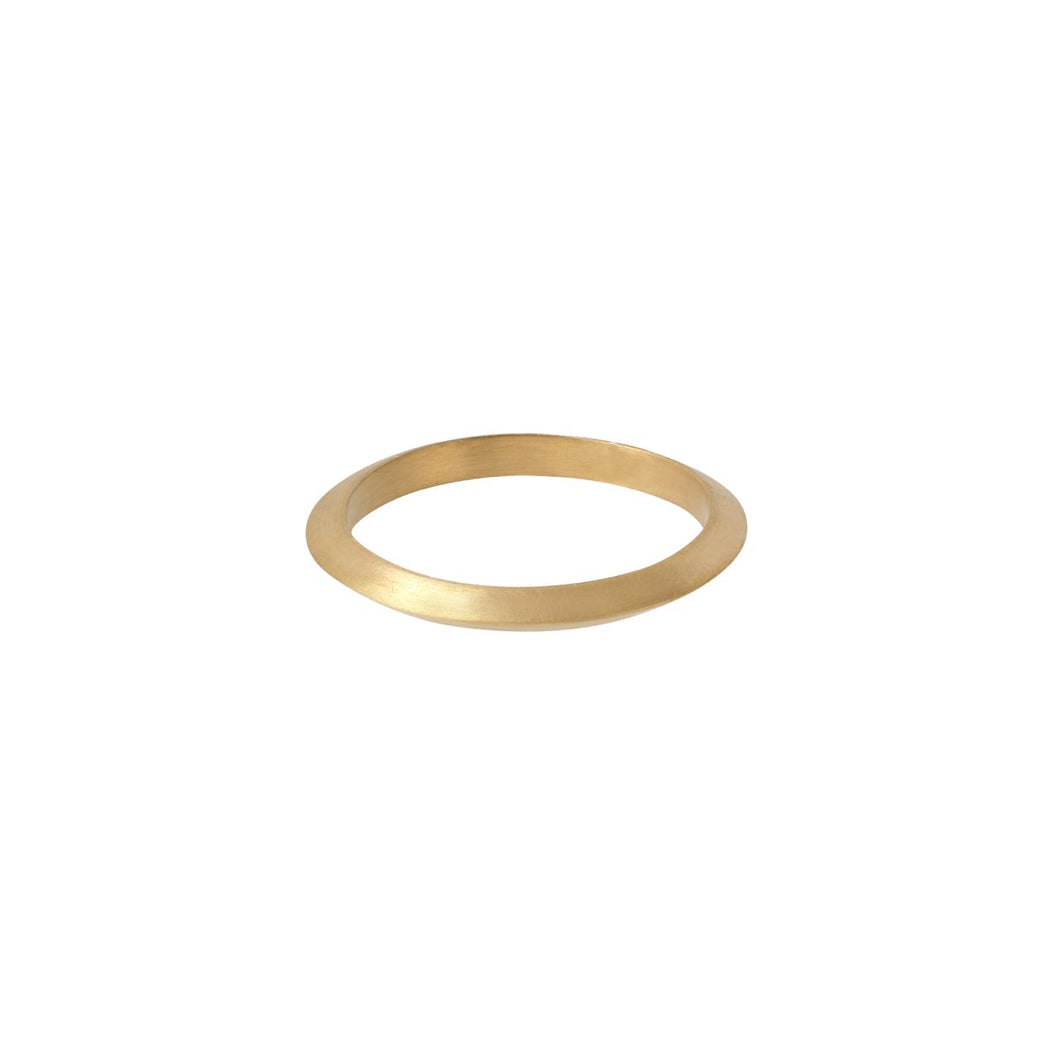 Verge Ring - Gold Plated Silver