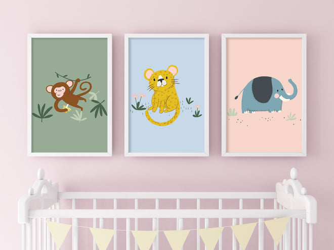 Animal Prints for Nursery & Children's Room