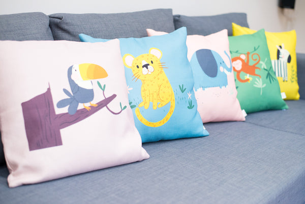 Home Decor Cushion Cover for Baby Nursery, Children's Room or Playroom Throw Pillow