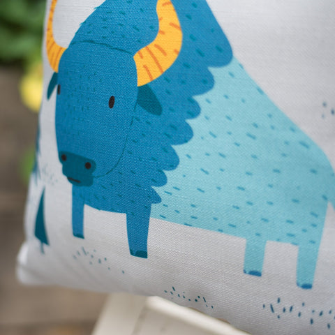 Bunyan Bison Cushion Cover and Optional Inner Filling