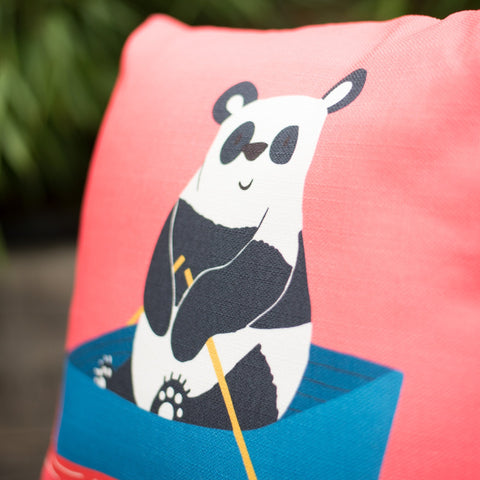 Pam Panda Cushion Cover and Optional Inner Filling