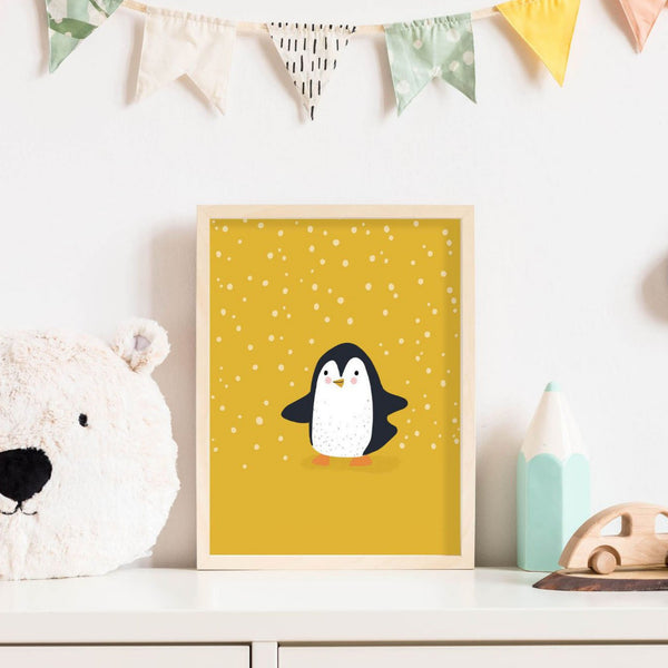 Penguin - Adventure Nursery Animals Prints Wall Art Décor Set for Kids Bedroom or Playroom Interiors