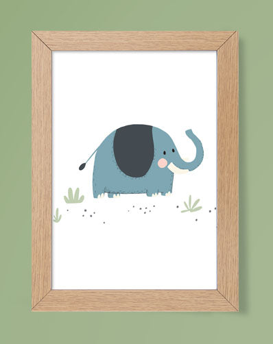 Jungle Themed Nursery Safari Animals Prints Set for Kids Room, Playroom Décor or Nursery Wall Art
