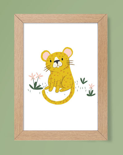 Baby Tiger Products Jungle Themed Nursery Safari Animals Print for Kids Room, Playroom Décor or Nursery Wall Art