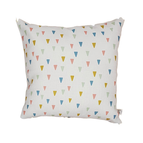 Floating Triangles Home Cushion Covers for Bedroom Interiors, Kids Room, Cotton Square for Sofa Throw Pillow Case