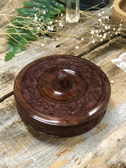 Wooden Bowl with lid.