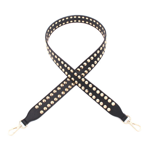 Handbag Strap – Black/Gold Stud