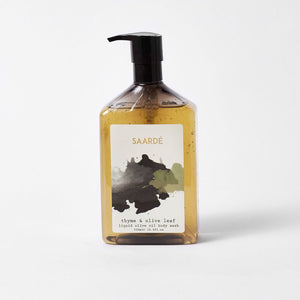 Liquid Olive Oil Body Wash - Thyme & Olive Leaf