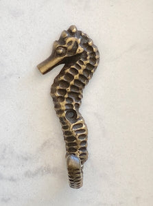 Brass Seahorse Wall Hook