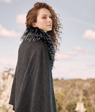 Load image into Gallery viewer, Fur Shawl - Charcoal