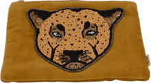 Load image into Gallery viewer, Leopard Velvet Pouch