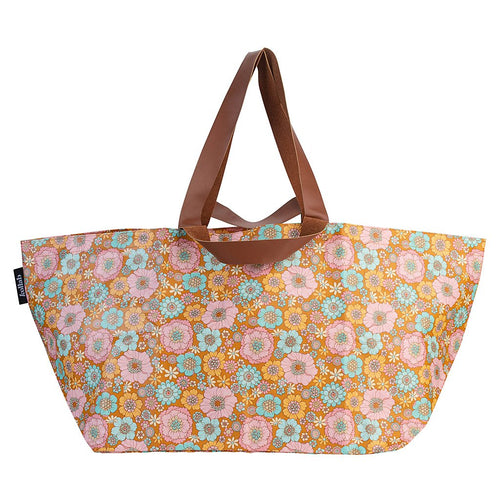 Kollab - Retro Aqua Floral Beach Bag