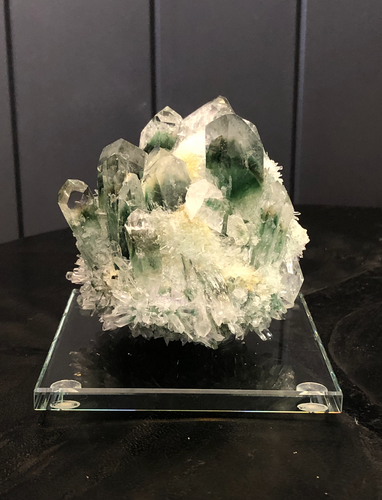 Green Quartz Crystal Cluster
