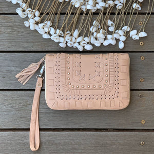 Stitch & Stud Zip Wallet