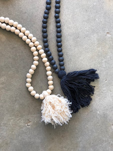 Wooden Beaded Tassel
