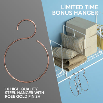Triple Crossbar Shelf Dividers for Wire Shelves