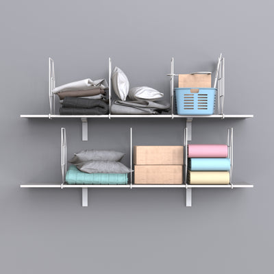 Cube Shelf Dividers for Wooden Shelves
